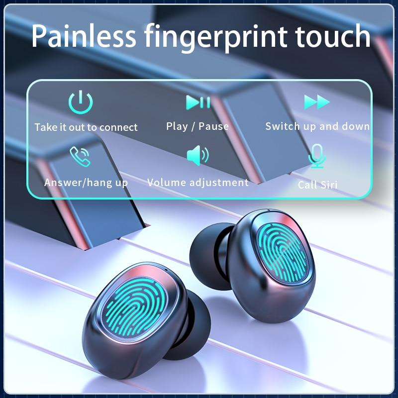 Беспроводные Bluetooth наушники с микрофоном спортивные водонепроницаемые сенсорное управление музыка наушники для мобильный телефон наушники гарнитуры