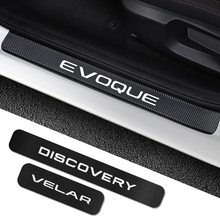 4PCS For Land Rover Discovery 3 4 2 Freelander 2 1 Evoque Velar Car Door Sill Plate Stickers Car Tuning Accessories