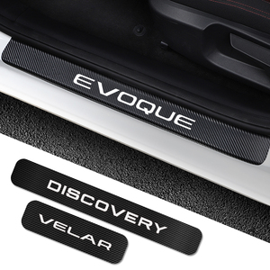 Image 1 - 4PCS For Land Rover Discovery 3 4 2 Freelander 2 1 Evoque Velar Car Door Sill Plate Stickers Car Tuning Accessories