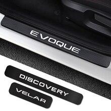 Наклейки на пороги автомобиля Land Rover Discovery 3 4 2 Freelander 2 1 Evoque Velar, аксессуары для тюнинга автомобиля, 4 шт.