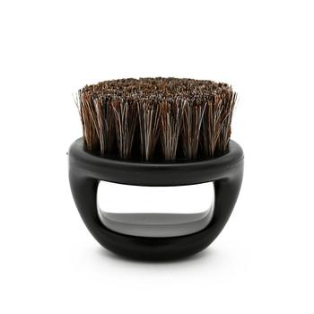 1 Pcs Ring Design Horse Bristle Men Shaving Brush Plastic Portable Barber Beard Brushes Salon Face Cleaning Razor Brush Y-87 1
