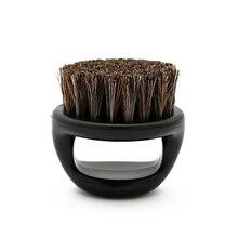 1 sztuk wzór pierścienia włosia konia mężczyzn pędzel do golenia z tworzywa sztucznego przenośny fryzjer broda szczotki Salon czyszczenia twarzy Razor Brush Y 87