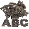 Neue! 26 englisch Pailletten A-Z Alphabet Brief Applique Eisen Auf Patch Für Tuch Name Diy Abzeichen Aufkleber Für Kleid Jeans Hose schuhe