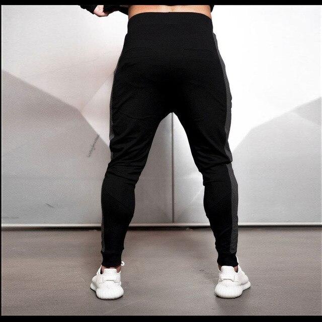 2019 Fashion Men Side Seam Side seam stitching Skinny Sportswear Sweatpants Male Casual Leggings Trousers Joggers Pants Men 3