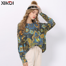 XIKOI Winter New Retro Print Sweater Women Pullove