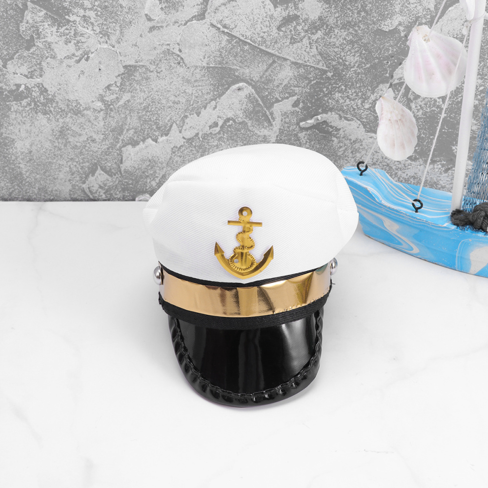Sailor Funny Headgear Pet Party Hat Cosplay Props for Cat Dog Puppy