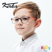 Kirka TR90 Crianças Óculos De Armação Flexível Crianças Óculos Ópticos Armações de óculos Quadrados Óculos Crianças Óculos para 6 10