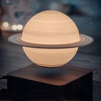 Creative 3D Magnetic Levitation Moon Lamp Saturn Night Light Rotating Led Luna Floating Lamp Home Decoration Living room Bedroom