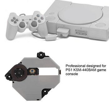 Optical Laser Lens Replacement Kit for PS1 KSM-440ADM/440BAM/440AEM Game Console Replacement Parts drive ksm 440aem optical lens repair parts assembly gaming spare durable console accessory compatible useful replacement for ps1