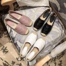 Junetxin; новые женские эспадрильи; обувь из натуральной кожи на плоской подошве; женские повседневные Лоферы наивысшего качества; сезон весна-осень; большие размеры 35-41