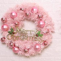 30/40cm Christmas Decoration Pink Christmas Wreath Rattan Ring Shopping Mall Window Scene Ornaments Artificial Christmas Wreath 5