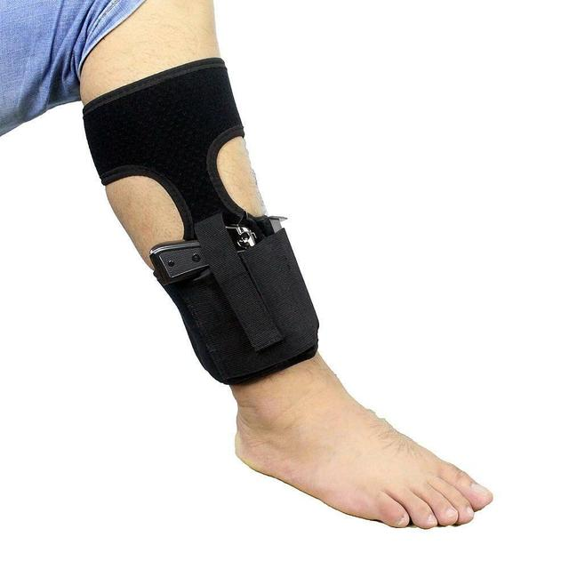 Tactical Concealed Carry Ankle Holster  Pouch Elastic Secure Strap Leg Pistol Gun Holster Hunting Bag 1