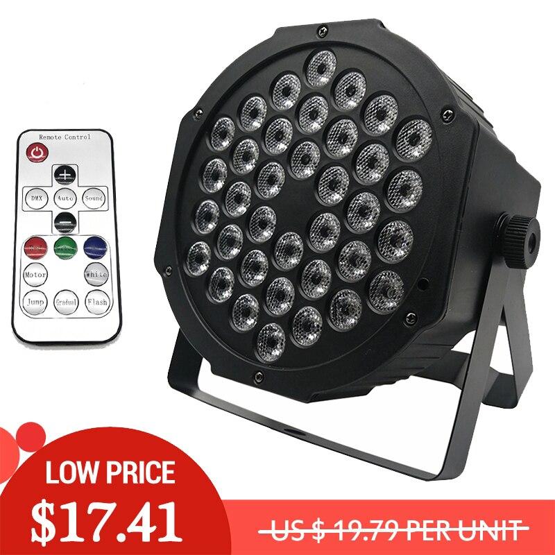 Luzes LED Par 36x3W DJ Luzes LED Par RGBW RGB Wash Efeito de Luz de Discoteca DMX Controlador Para pequeno Paty Iluminação de Palco KTV