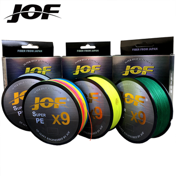 цена JOF 9 Weaves Fishing Line 500M 300M 100M 9 Strands Braided Fishing Line Multifilament PE Line 20 24 35 40 50 65 80LB онлайн в 2017 году