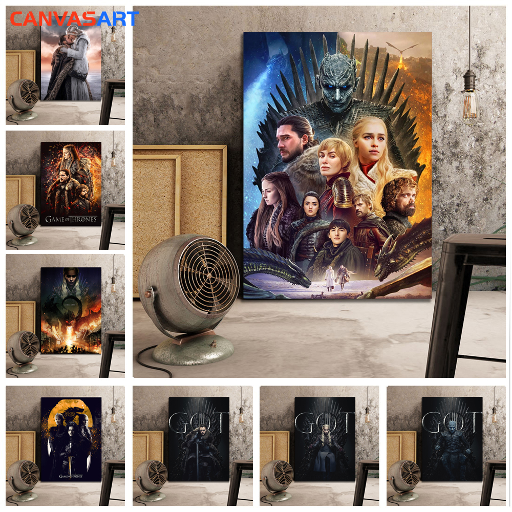 Canvas Art HD Pictures Game Of Thrones All Poster Wall Pictures For Living Room Canvas Painting Pictures By Numbers Oil Painting