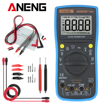 ANENG AN882B+ TURE RMS Digital Multimeter Auto NCV AC DC Auto LCR Volt Meter Tester Temprature Continuity Tester uni t ut71 series digital multimeter ture rms ac dc meter volt ampere ohm capacitance temp tester 40000 counts 0 025% accuracy