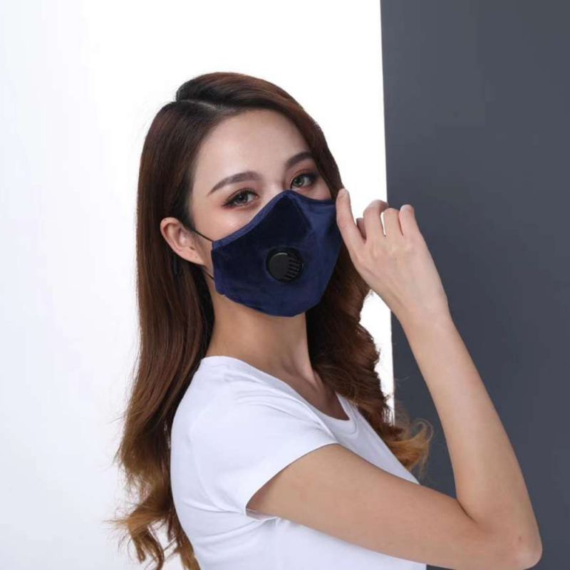 1Pc Respirator Mask With Breathing Valve Washable Cotton Activated Carbon Filter PM2.5 Mouth Masks Suit For Child And Adult Hot 2