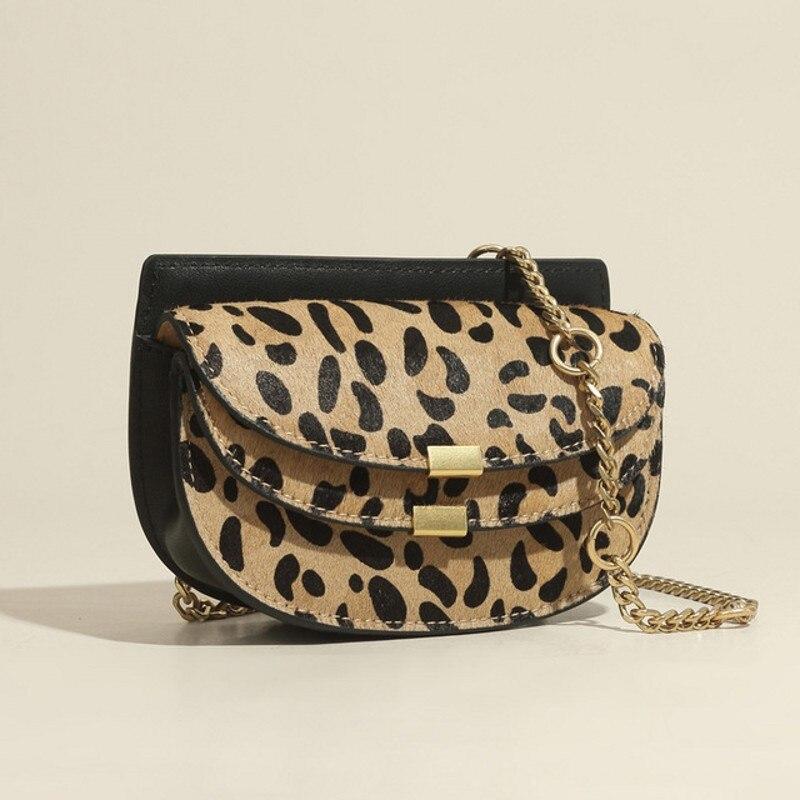 Novo leopardo sela saco estilo coreano moda