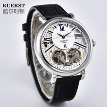 KUERST  Mens Skeleton Tourbillon Automatic Mechanical Watch Business Casual Mechanical WristWatch Top Luxury Brand Mens Watches hot sale luxury golden watch mens automatic mechanical watches for males full steel hollow skeleton dial unisex cool wristwatch