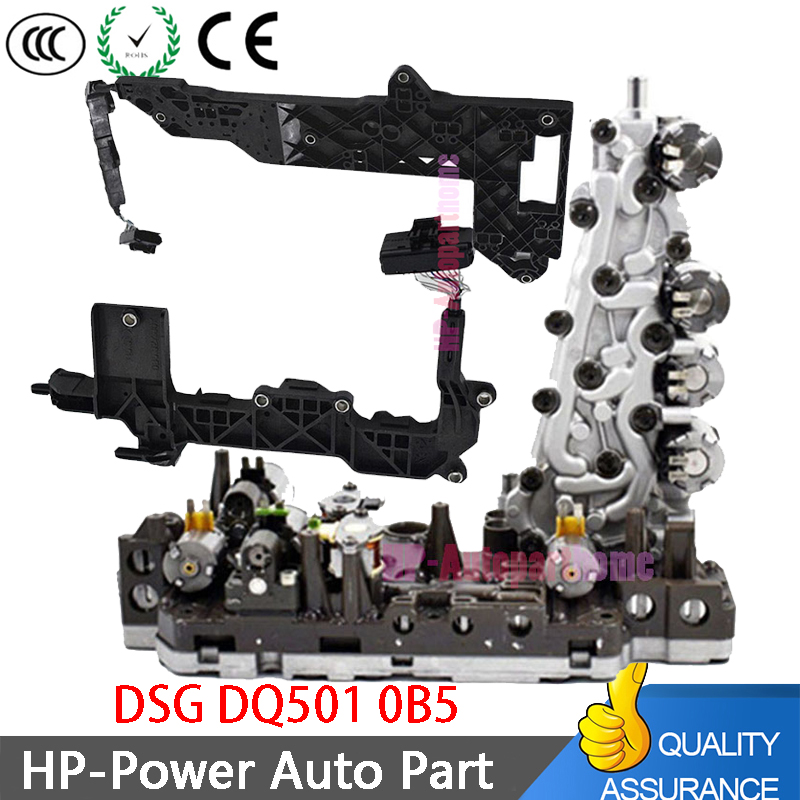 0B5 DL501 7-скоростной корпус трансмиссионного клапана WD + проводка монтажной платы Подходит для Audi A4 ALLROAD A5 CABRIOLET A6 A7 Q5