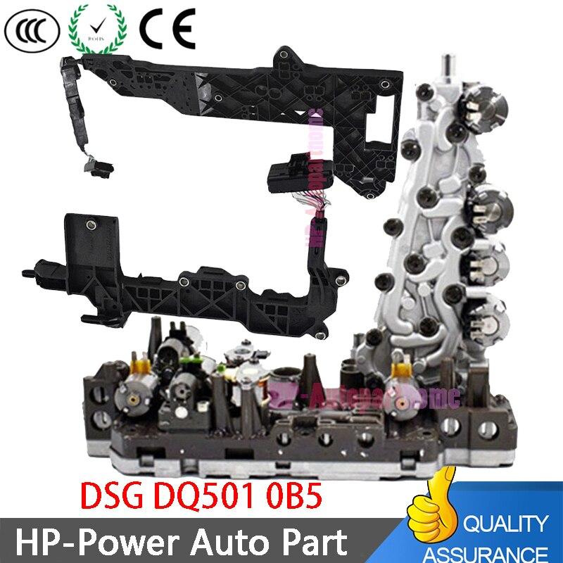 0B5 DL501 7 단 WD 변속기 밸브 본체 + 회로 기판 Audi A4 ALLROAD A5 CABRIOLET A6 A7 Q5 용 배선 피팅
