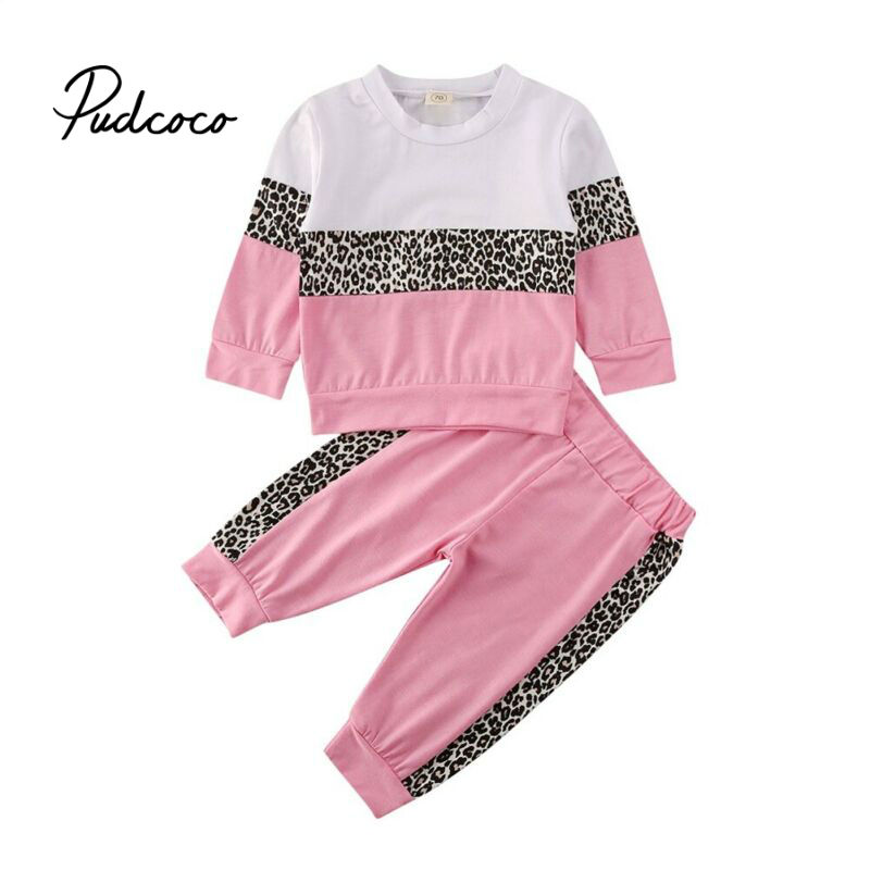 Brand Children Toddler Girl Clothes 2020 Spring Autumn Outfit Clothes Long Sleeve T-shirt Tops+Long Pants 2PCS Set Size 1-5T