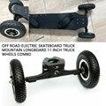 Pcmos fora da estrada caminhão skate elétrico montanha longboard 11 polegadas caminhão rodas combo scooters elétricos rodas pneus peças 2019