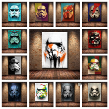 strong Import List strong Obrazy na płótnie Disney Star Wars szturmowiec Marvel film plakaty i druki nowoczesny abstrakcyjny obrazy na ścianę do wystroju domu tanie tanio CN (pochodzenie) Wydruki na płótnie Pojedyncze PŁÓTNO akwarelowy abstrakcyjne bez ramki Malowanie natryskowe Pionowy prostokąt