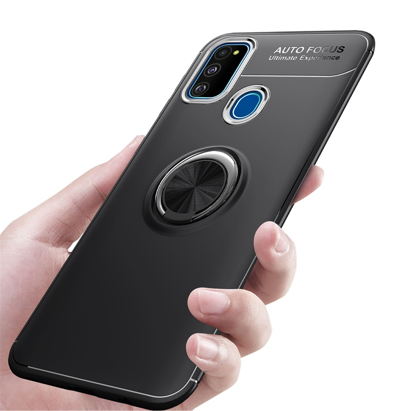 Soft Silicone Case For Samsung Galaxy M31 A41 A01 A31 A11 A21S A21 Back Cover Finger Ring Holder Phone Bracket Protection Casing