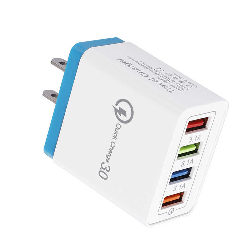Qc 3.0 Quick Charge Wall Charger 4 Port Usb Hub Power Adapters Dq-Drop