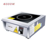 6000W Commercial Induction Cooker High Power Plane Induction Stove Canteen Hotel Industrial Induction Cooking Machine