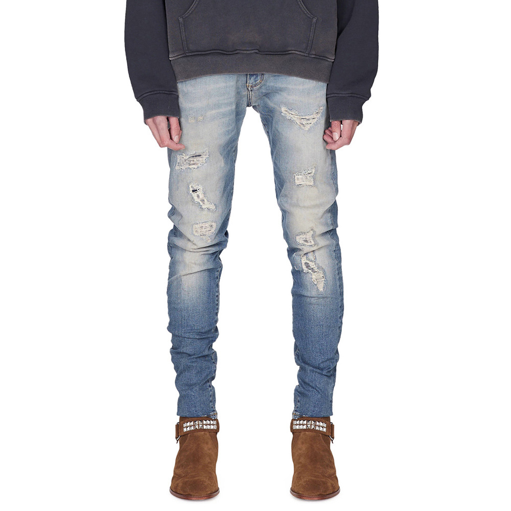 Dropshipping 2020 New Brand Jeans Men Fashion Patchwork Sknny Jeans Pants Casual Pencil Jeans Men Clothing