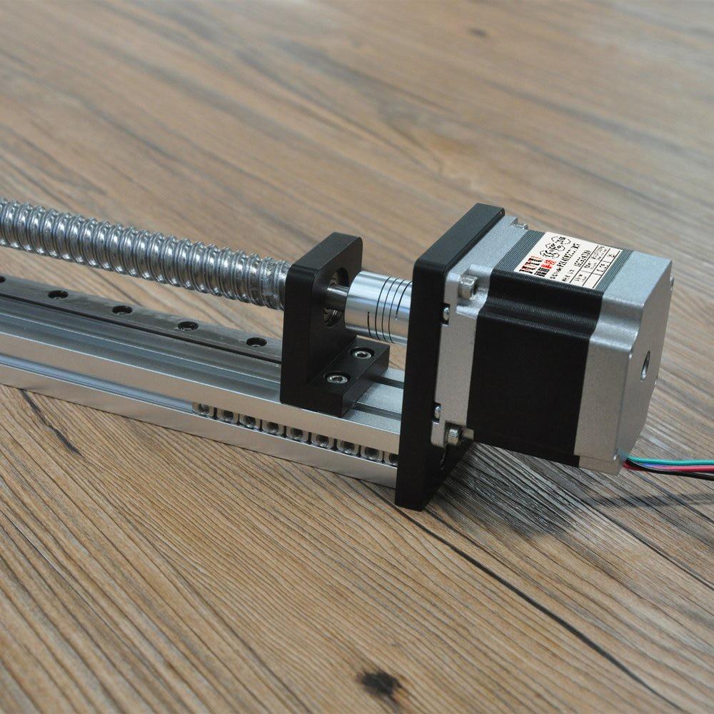 200mm Stroke CNC Linear Guide Rail Slide Stage Actuator Nema 23 Stepper Motor