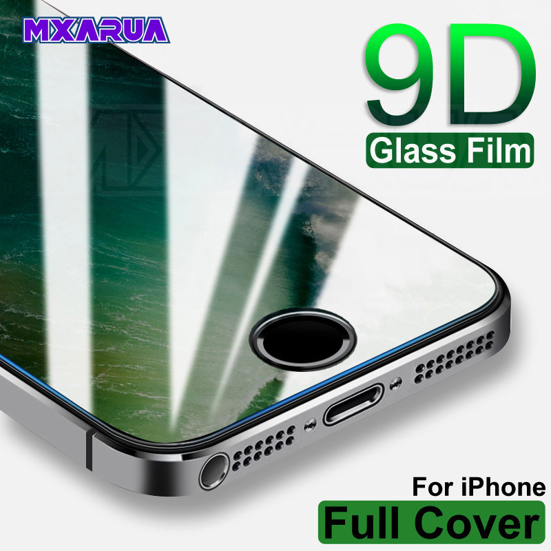 9H Tempered Glass On The For IPhone 5S 5 SE 5C Screen Protector 9H Anti-Burst Protective Film Glass IPhone 11 Pro X XR XS Max