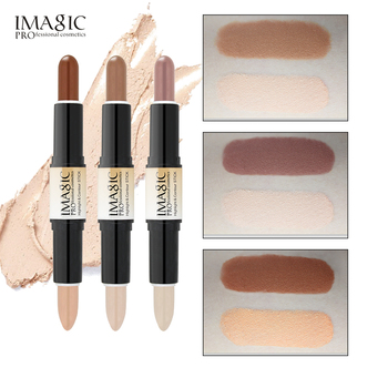 IMAGIC Makeup Creamy Double-ended 2in1 Contour Stick Contouring Highlighter Bronzer Create 3D Face  Concealer Full Cover Blemish недорого