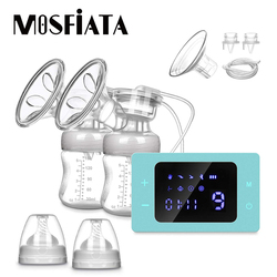 Electric Breast Pump Upgrade Version Electric Dual Suction Rechargeable Breastfeeding Pump Baby Accessories Food Grade BPA Free