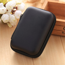 Mini Hold Case Storage Case For Headphones Earphone Earbuds Carrying Hard Bag Box Case For Keys Coin Travel Earphone Acc black(China)