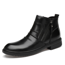 Brand New Fashion Pu Leather Men Boots Comfortable Shoes Ankle Short Plush Winter Warm Size 36-47 *9181
