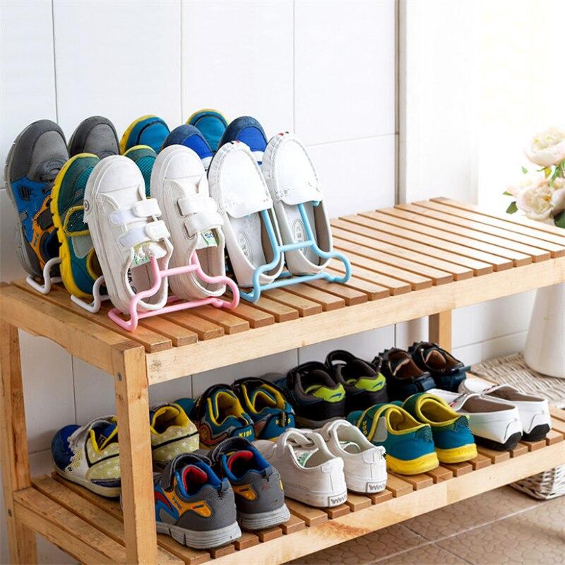1PCS Multi-Function Shelf Drying Rack Shoe Rack Stand Hanger Children Kids Shoes Hanging Storage Wardrobe Organizer