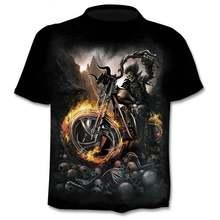 Новинка 2020 футболка с черепом для мотоцикла мужчин и женщин