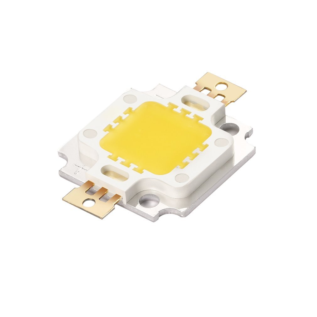 1 Pcs 10W High Power Integrated LED lamp Beads Chips SMD Bulb Warm White For DIY Flood light Spotlight