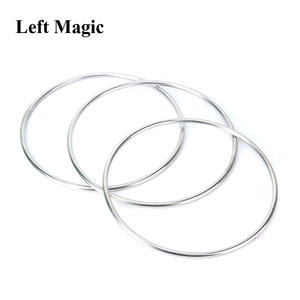 Magic Tricks Magnetic Linking-Ring Gimmick-Prop Comedy Stage-Illusion 3-Rings-Set Dia--31cm