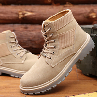 Man High Top Winter Boots Large Men Shoes Waterproof Leather Shoes New Popular Outdoor Shoes