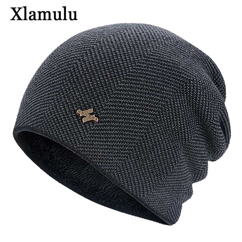 Xlamulu Fashion Skullies Beanies Warm Knitted Hats Women Winter Hats For Men Hat Male Caps Balaclava Gorro Bonnet Female Beanie