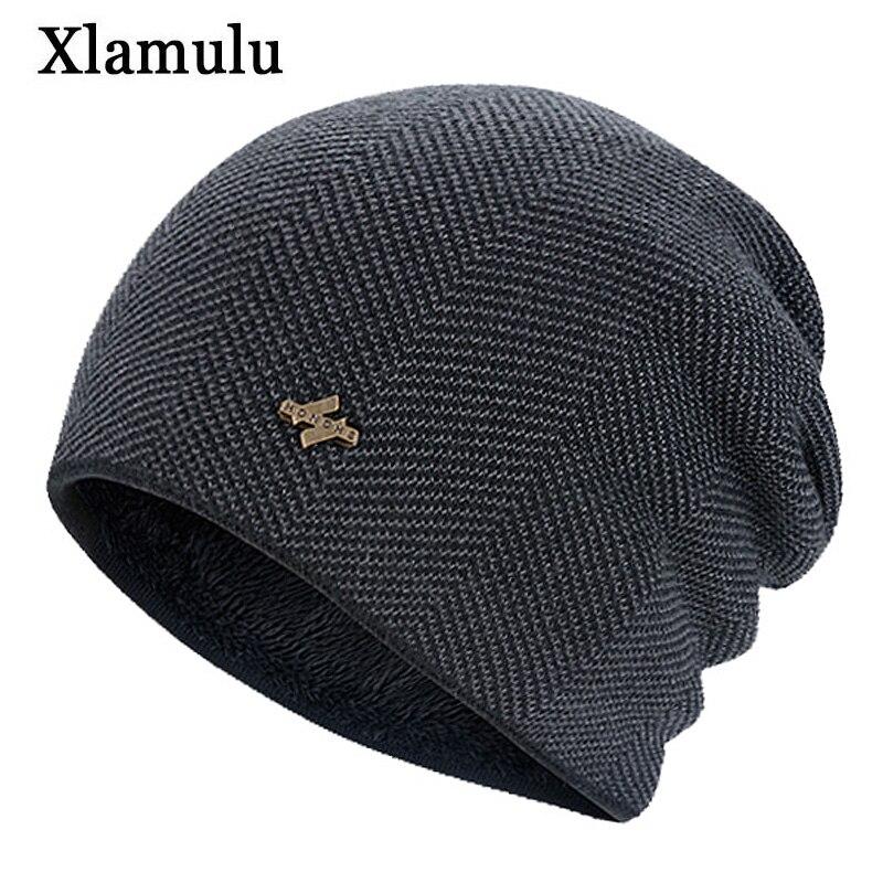 Xlamulu Fashion   Skullies     Beanies   Warm Knitted Hats Women Winter Hats For Men Hat Male Caps Balaclava Gorro Bonnet Female   Beanie