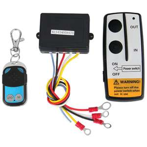 12V 12Volt 50ft Winch Wireless Remote Control Set for Truck Jeep ATV Warn Ramsey
