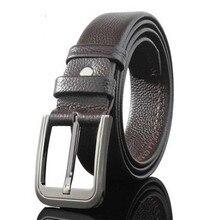 Brand Cow Genuine Leather Men Belt Luxury Soft Pin Buckle Jo