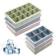 Силиконовые 3 вида цветов Большая решетка форма кубика льда машина для изготовления кубиков льда Гибкий Силиконовый поднос кубика льда с кр...