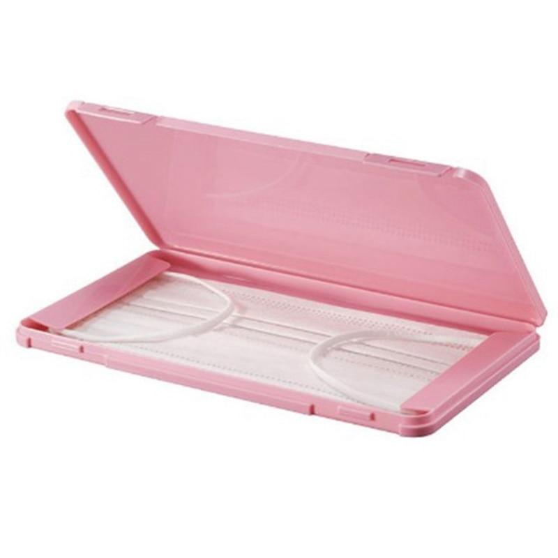 1Pcs Mask Case Portable Disposable Face Masks Container Safe Health Disposable Mask Storage Box Dustproof Storage Organizer