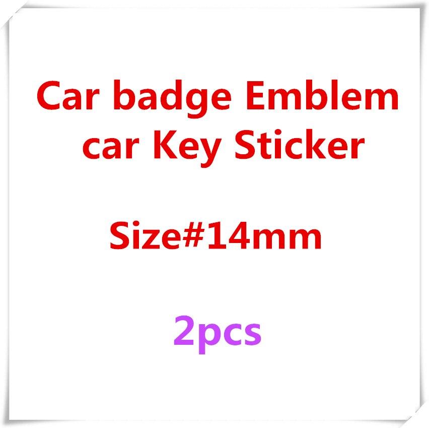 FTDF 2PCS 14mm Car Key Emblem Logo Stickers For SKODA Fabia Octavia Rapid Superb Yeti Citigo Roomster Car Styling
